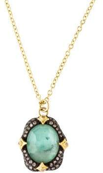 Armenta 18K Quartz Triplet & Diamond Old World Pendant Necklace