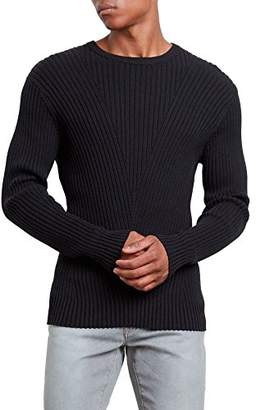 Kenneth Cole New York Men's Engineered Rib Crew Sweater