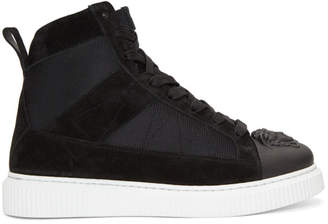 Versace Black 3D Medusa Head Sneakers