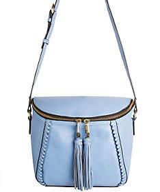 Oryany Pebbled Leather Crossbody Bag w/ Tassels- Kimberly