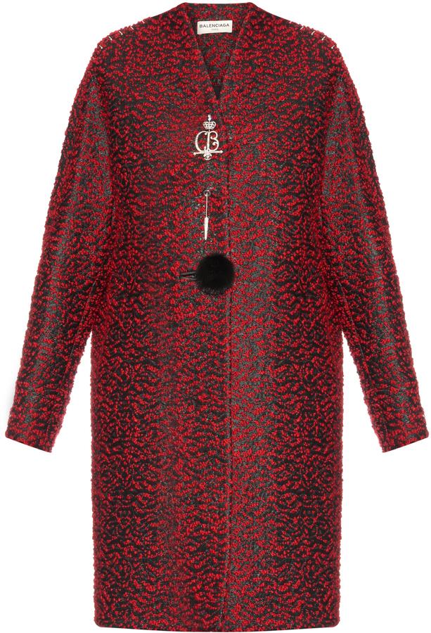 Balenciaga BALENCIAGA Chintz tweed wool-blend coat