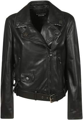 Moschino Zipped Leather Jacket