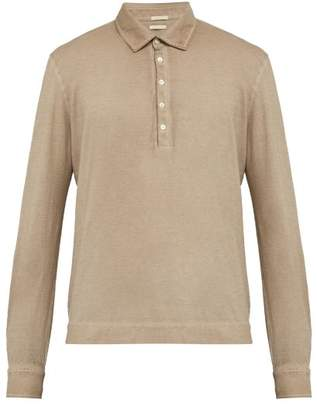 Massimo Alba Watercolour Dyed Cotton Polo Shirt - Mens - Beige