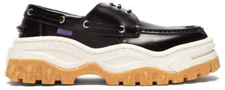 Eytys Mykonos Leather Boat Shoes - Mens - Black