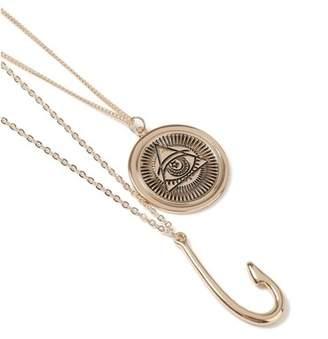 Topman Mens Gold Hook Necklace*