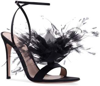 Gianvito Rossi Feather Selha Sandals 105