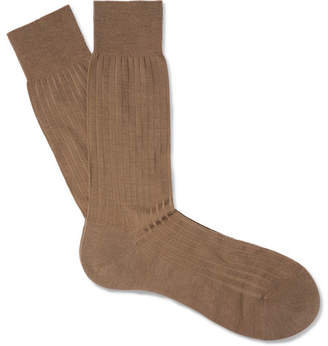 Pantherella Laburnum Ribbed Merino Wool-blend Socks