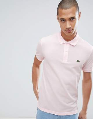 Lacoste Slim Fit Logo Polo Shirt In Pink
