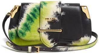 Prada Sidonie Tie Dye Leather Shoulder Bag - Womens - Multi
