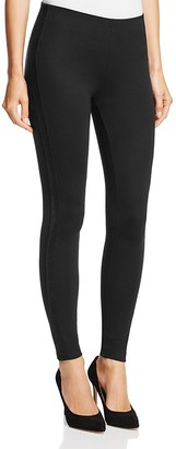 HUE Metallic Tuxedo Stripe Ponte Leggings $48 thestylecure.com