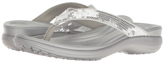 Crocs - Capri V Sequin Women's Sandals $45 thestylecure.com