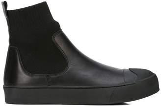 Neil Barrett solid black sock boots