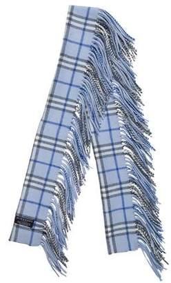 Burberry Cashmere Fringe-Trimmed Scarf