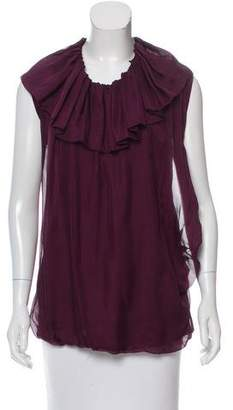 Lanvin Ruffle-Accented Sleeveless Top