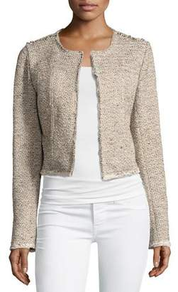 Theory Ualana Comprised Tweed Jacket, Beige