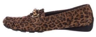 Stuart Weitzman Suede Embellished Loafers