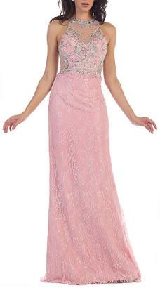 Asstd National Brand Formal Long Lace Evening Gown