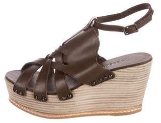Derek Lam Leather Platform Wedges