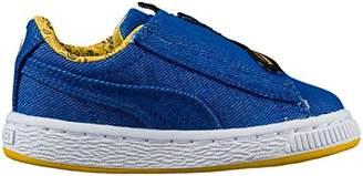 Puma Baby Minions Basket Wrap Statement Leather Kids Sneaker