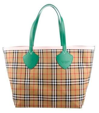84939f1ce Burberry 2018 Vintage Check Giant Reversible Tote