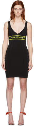 Off-White Black Knit Short Dress