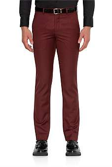 Uber Stone Wool Flat Front Skinny Trouser
