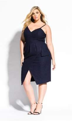 City Chic Citychic Amare Dress - Navy