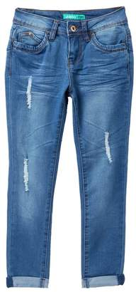 YMI Jeanswear Jeans Distressed Ankle Jeans With Cuff (Big Girls)