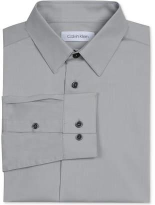 Calvin Klein Big Boys Solid Stretch Poplin Shirt