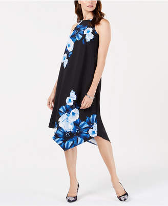 Alfani Asymmetrical-Hem Swing Dress
