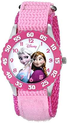 Disney Kids' W000970 Snow Queen Watch with Pink Nylon Band