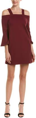 Olivaceous Off-The-Shoulder Shift Dress