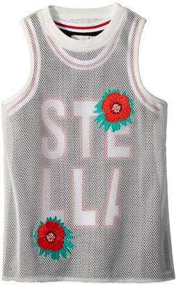 Stella McCartney Corey Sleeveless Sporty Dress w/ Mesh Overlay Girl's Dress