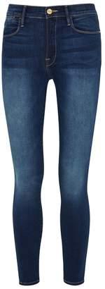 Frame Le High Skinny Dark Blue Jeans