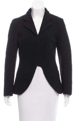 Hache Patterned Knit Notch-Lapel Jacket