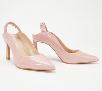 c274726dbf3 Vince Camuto Patent Leather Slingback Pumps- Restia