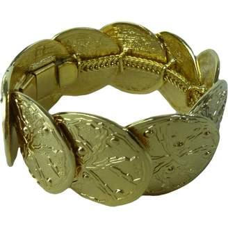 Azzaro Vintage Loris Gold Metal Bracelets