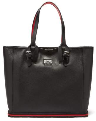 Christian Louboutin Kabiker Leather Tote Bag - Mens - Black Silver