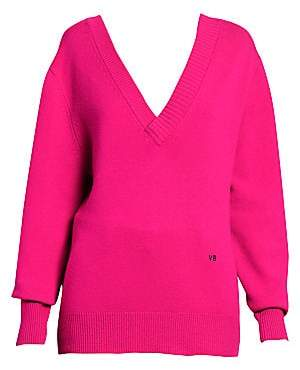 Victoria Beckham Women's Stretch Cashmere Double V-Neck Sweater