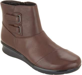 Clarks Leather Side Detailed Ankle Boots - Hope Cody