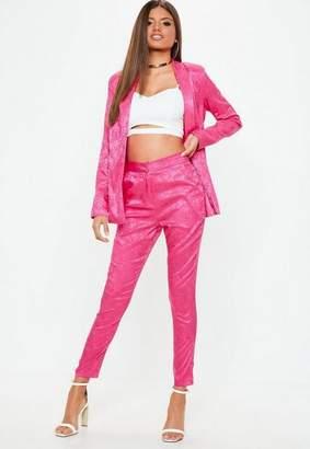 Missguided Pink Jacquard Pajama Style Pants