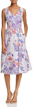 Adrianna Papell Sleeveless Floral Jacquard Dress $199 thestylecure.com