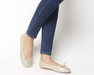4ef618a436d1 Office Foot Step Ballet Flats Rose Gold Lurex