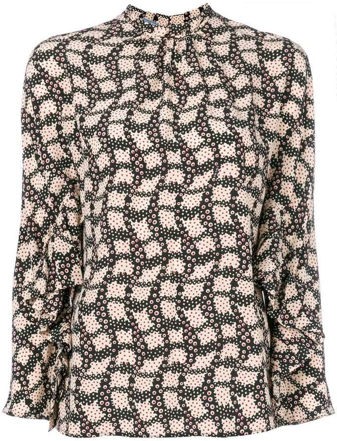 Prada dot print blouse