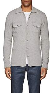 Eleventy Men's Cashmere Sweater Shirt - Light Gray