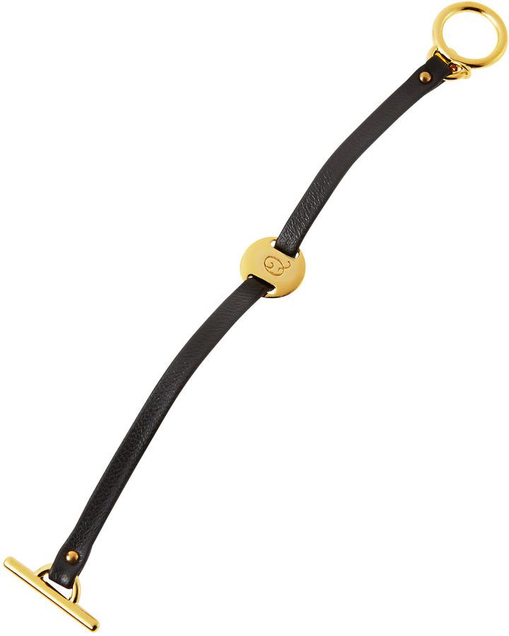 """Gorjana Leather Toggle Alphabet Bracelet, """"Q"""""""
