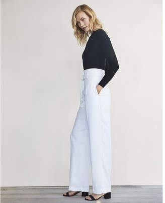Express Karlie Kloss Wide Leg Belted Dress Pant $88 thestylecure.com