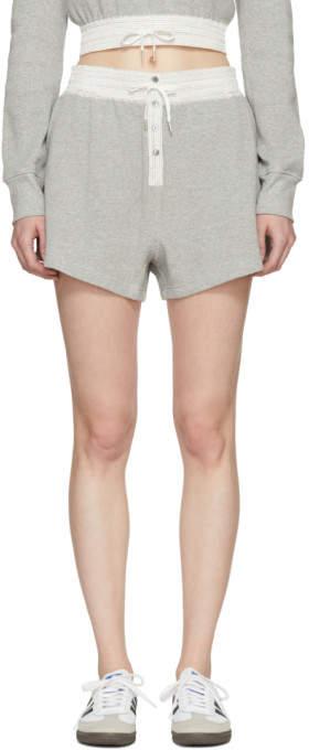 Grey Heavy Waffle Gym Shorts