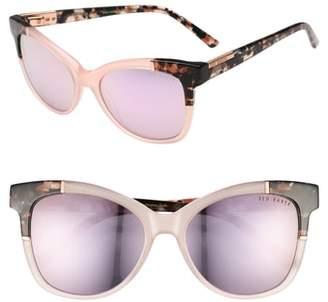 Ted Baker 55mm Square Cat Eye Sunglasses
