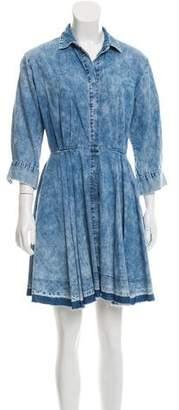 Current/Elliott Button-Up Mini Dress
